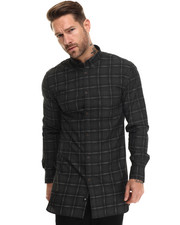 Shirts - Eight Ft L/S - Oversized Plaid Buttondown
