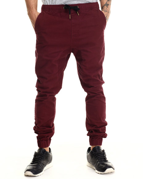 Zanerobe - Men Maroon Sureshot Jogger Pants