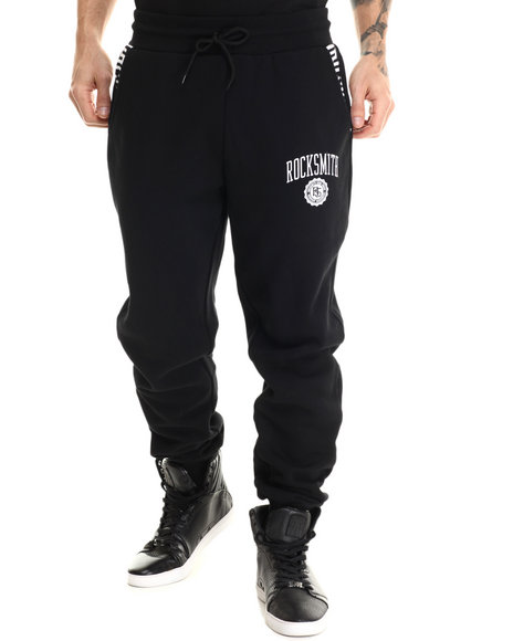 Rocksmith - Men Black Monogram Joggers