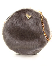 Handbags - Candy Faux Fur Macaron Bag