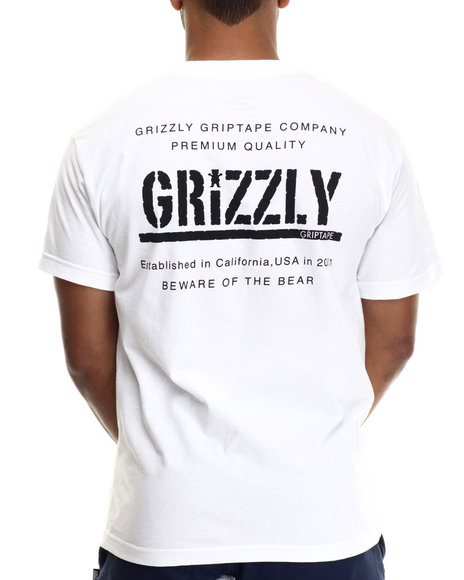 Grizzly Griptape - Men White General Issue Tee - $25.99