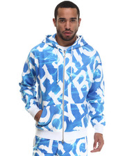 Men - Aqua Message Hoodie