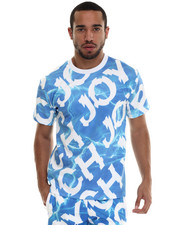 Men - Aqua Message Tee