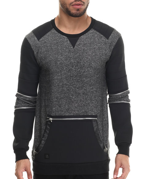Black Kaviar - Men Grey Sanski Zipper - Trimmed Sweatshirt - $112.99