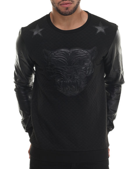 Black Kaviar - Men Black Sazam Quilted Sweatshirt - $98.99