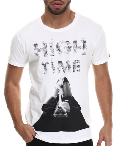 Two Angle Clothing - Men White High Time S/S Tee