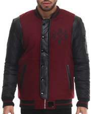 Outerwear - Sosh Reversible Faux Leather - Trimmed Jacket