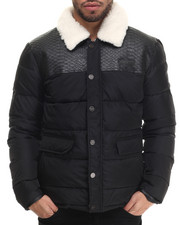 Men - Tilaine Faux - Snake - Trimmed Quilted Jacket