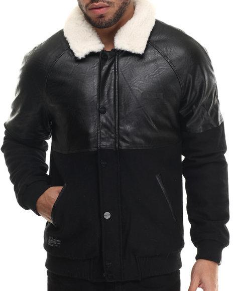 Two Angle Clothing - Men Black Tiredy Mixed - Media Jacket