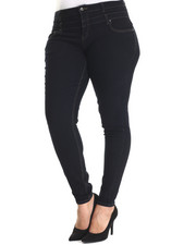 Basic Essentials - Double Kiss Stacked Highwaisted Skinny Jean (Plus)