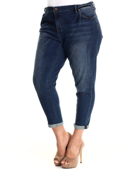Basic Essentials - Women Blue Lakeside Wash Boyfriend Jean