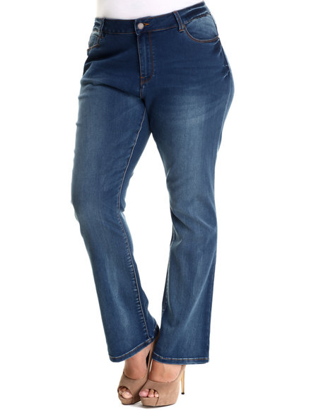 Basic Essentials - Women Medium Wash Resse Butter Jean (Plus)
