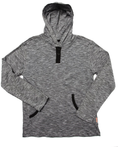 Arcade Styles - Boys Grey Space Dyed Hooded Top (8-20) - $14.00