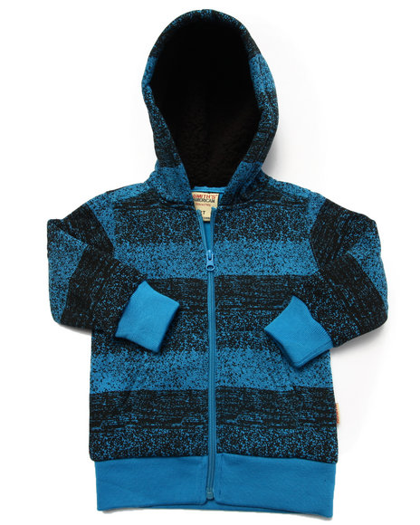 Arcade Styles - Boys Blue Striped Full Zip Hoody (2T-4T) - $7.99