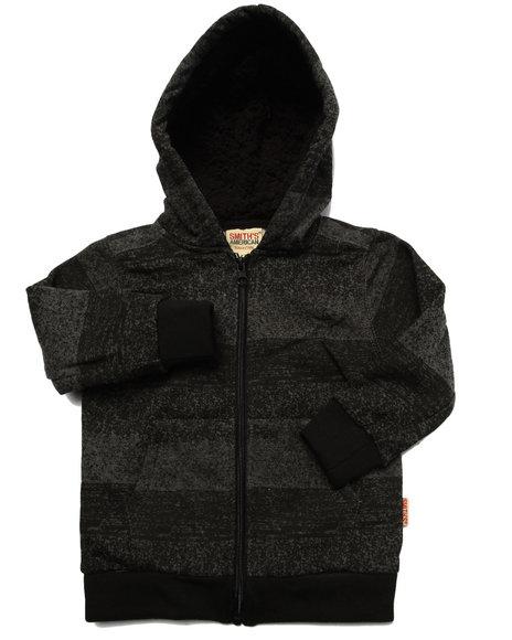 Arcade Styles - Boys Grey Striped Full Zip Hoody (2T-4T) - $11.99