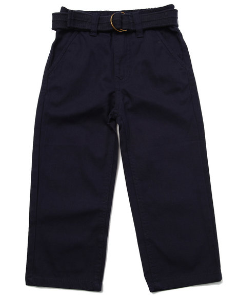Arcade Styles - Boys Navy Belted Twill Pants (2T-4T) - $24.00