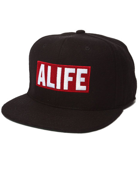 Alife Men Box Logo Snapback Hat Black - $34.00