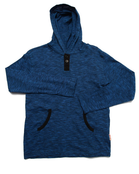 Arcade Styles - Boys Navy Space Dyed Hooded Top (8-20) - $14.00