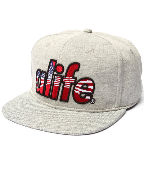 Alife Men Infinity Flag Snapback Hat Grey - $34.00