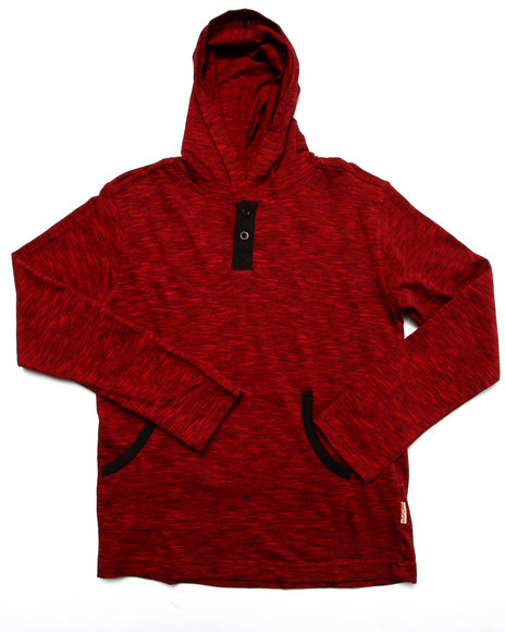 Arcade Styles - Boys Red Space Dyed Hooded Top (8-20) - $14.00