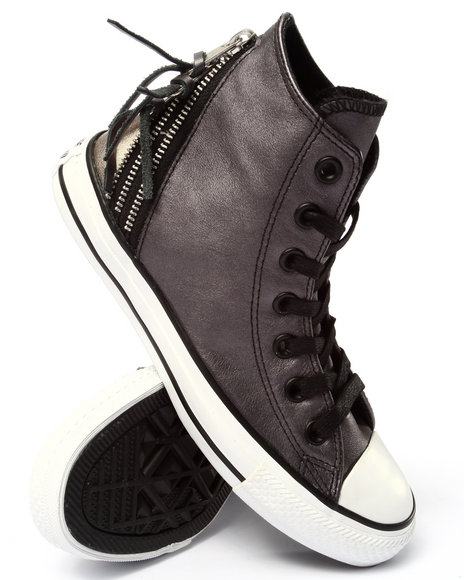 Converse - Men Black,Grey Chuck Taylor All Star Tri Zip Sneakers