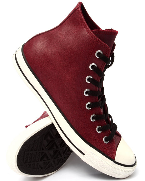 Ur-ID 213241 Converse - Men Red Chuck Taylor All Star Vintage Leather Sneakers