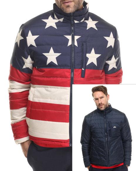 Alife - Men Navy Star Flag Reversible Jacket