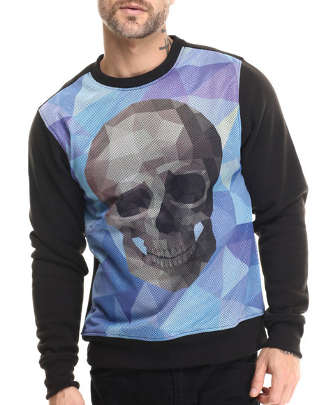 Enyce - Men Black Cubist Sweatshirt - $48.00