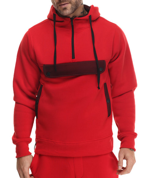 Enyce - Men Red Puba Pullover Hoodie