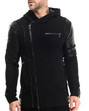 Men - Saygood Faux Leather - Trimmed Jacket