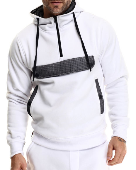 Enyce - Men White Puba Pullover Hoodie
