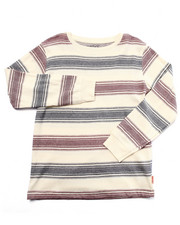 Sizes 8-20 - Big Kids - STRIPED CREW NECK TOP (8-20)