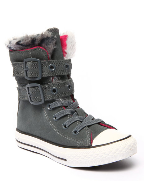 Converse - Girls Grey Chuck Taylor All Star Glendale (11-6)