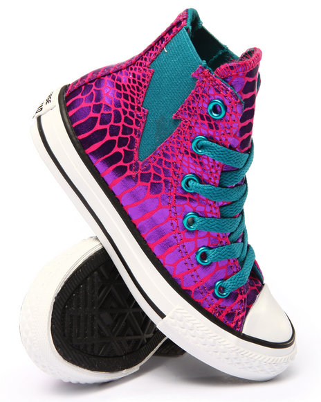 Converse - Girls Pink Chuck Taylor Reptile Glam All Star Boltz (11-6)