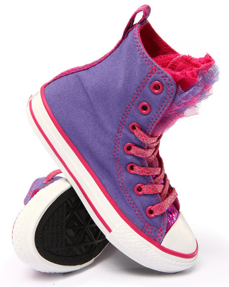 Converse - Girls Purple Chuck Taylor All Star Party (11-6)