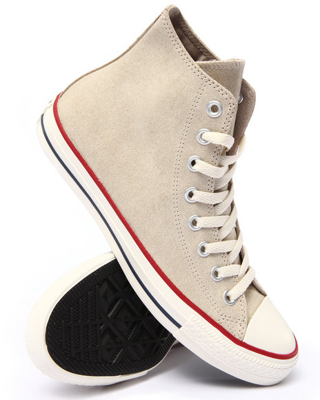 Converse - Men Grey Chuck Taylor All Star Vintage Leather Sneakers