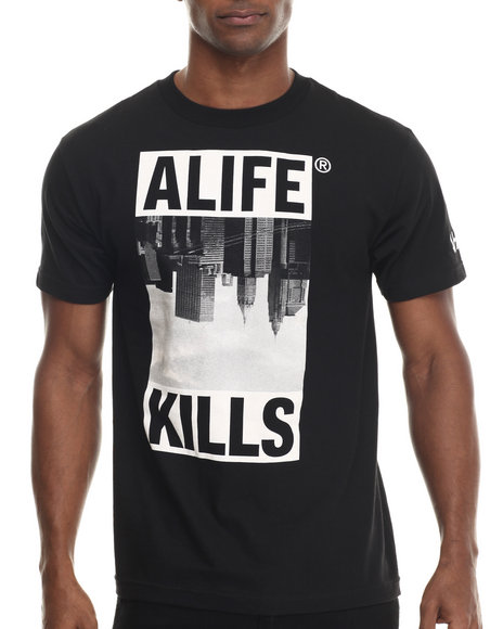 Alife - Men Black Skyline S/S Tee