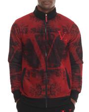 Men - Printed Fleece Track Jacket