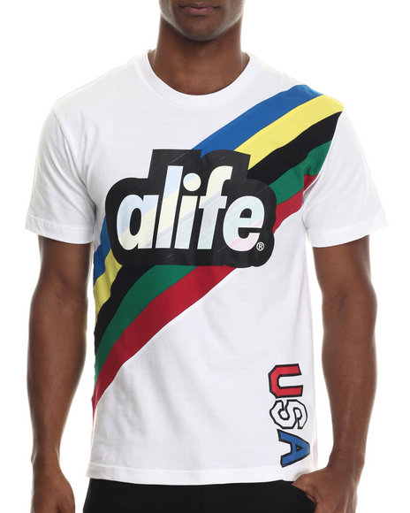 Alife - Men White Champion S/S Tee - $36.00