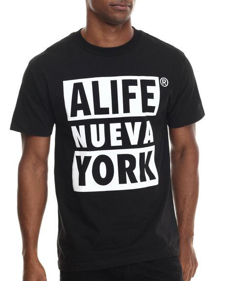 Ur-ID 213314 Alife - Men Black Nueva York S/S Tee
