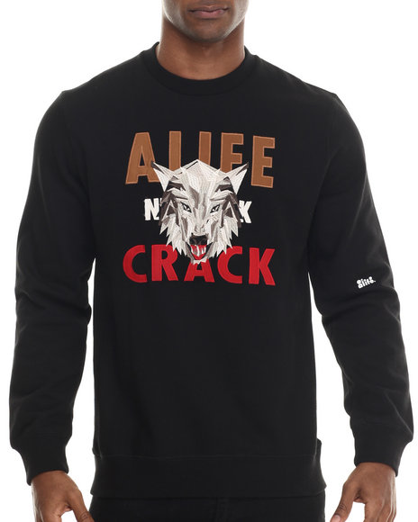 Alife - Men Black Wolfpack Crewneck Sweatshirt - $68.99