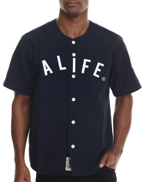 Alife - Men Navy El Bronx Baseball - Style Jersey - $86.99