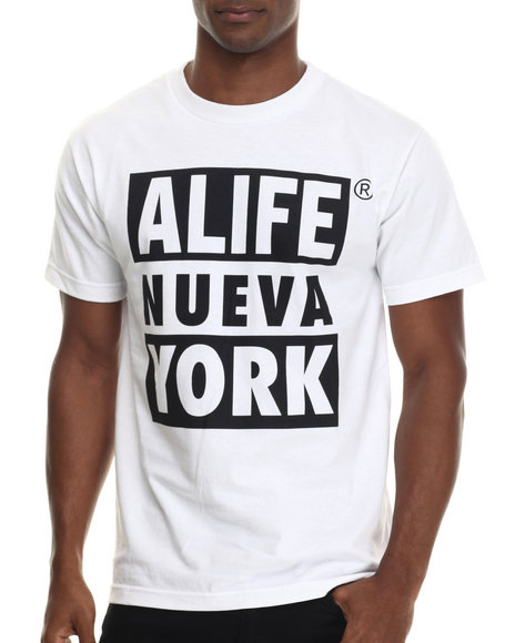 Alife - Men White Nueva York S/S Tee - $32.00