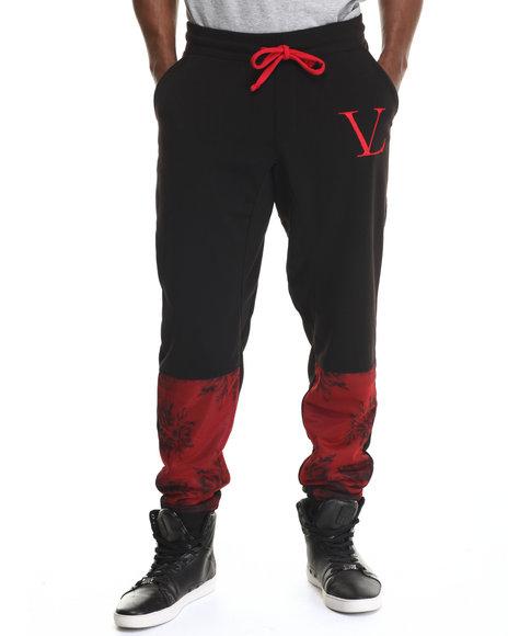 Vampire Life - Men Red Color Blocked Jogger