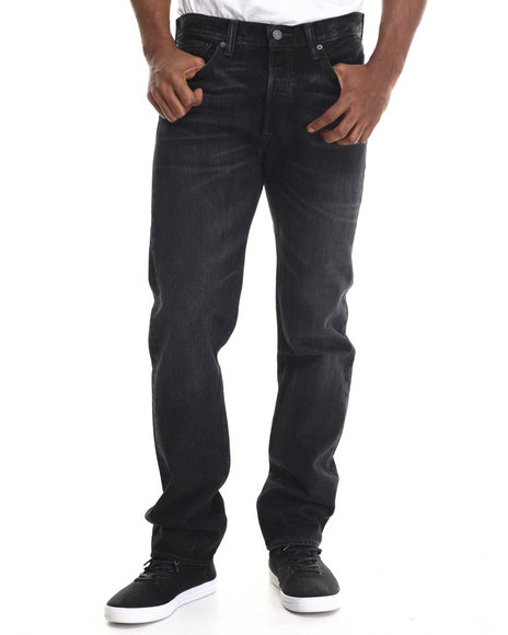 Levi's - Men Dark Indigo 501 Original Fit Calaveras Jean