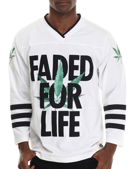 Alife - Men White Faded For Life Hockey Jersey - $78.00