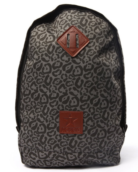 Two Angle Clothing Men Vackpack Leopard Grey