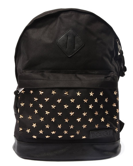 Two Angle Clothing Men Yacleo Printed Backpack Black