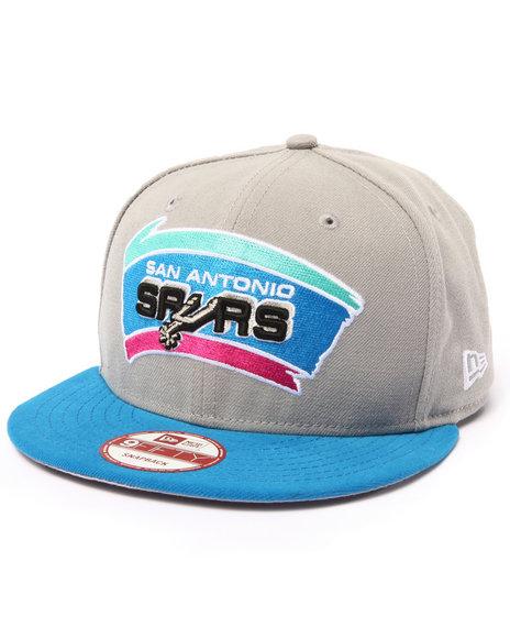 New Era Men San Antonio Blue Sky Edition Custom 950 Snapback Hat Grey