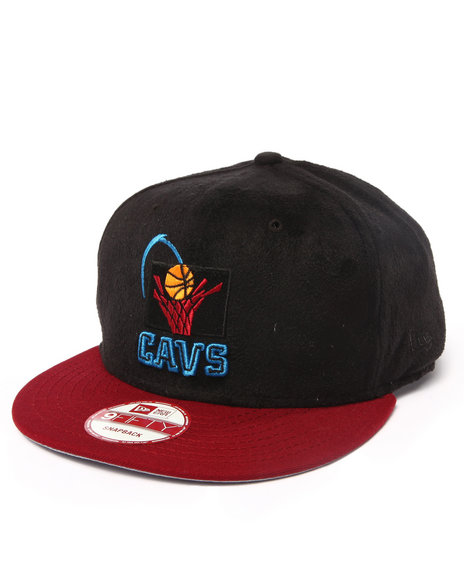 New Era Men Cleveland Cavaliers Multi Color Poly Black Suede Custom Black - $20.99
